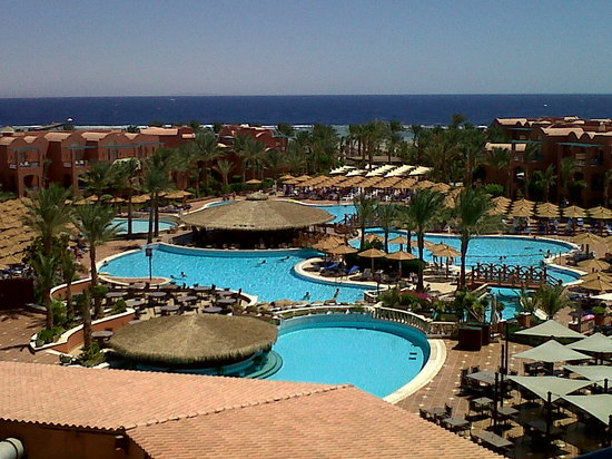 Club Magic Life Sharm el Sheikh Imperial: View from tower looking down over main pool area.