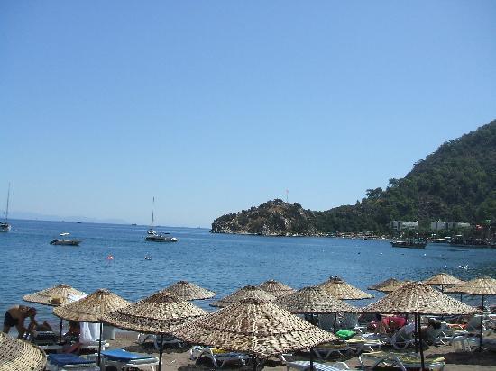 Turunc, Turkey: beach bar view
