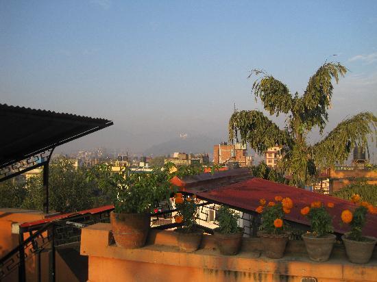 International Guest House: 屋上からの景色です。ヒマラヤが見える時もあるみたいですよ。