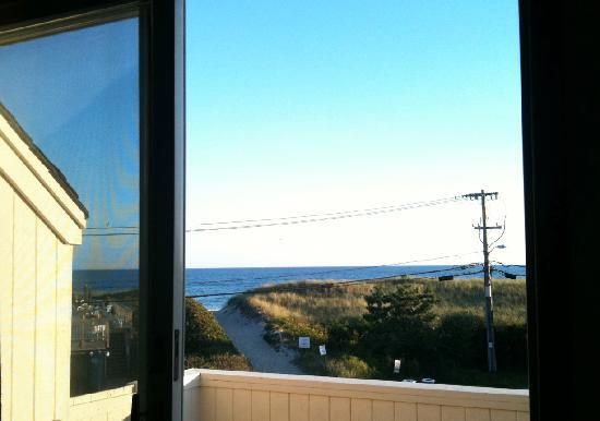 Sands Motel: view from Deluxe Suite balcony (new building on corner)-. `