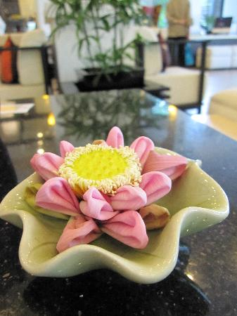 Fresh Lotus Flower With Folded Petal At The Lobby Picture Of Tara