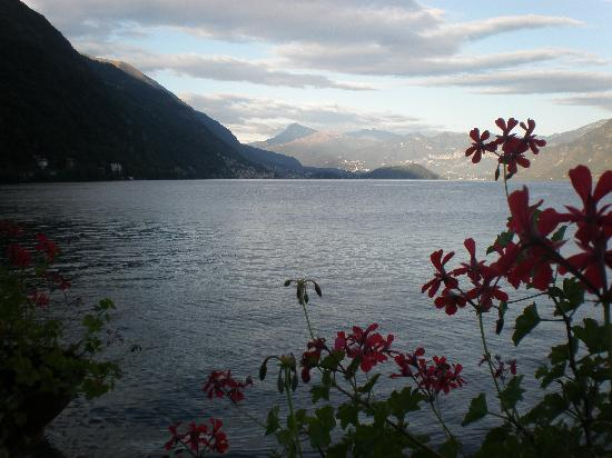 Argegno, Italy: Looking south from the terrace just before sunset
