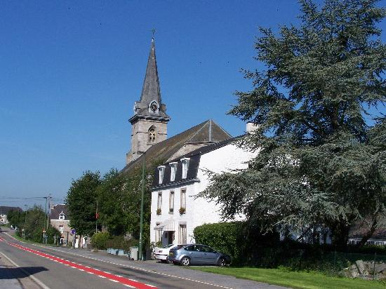 Les Pierres Blanches: The main house and church
