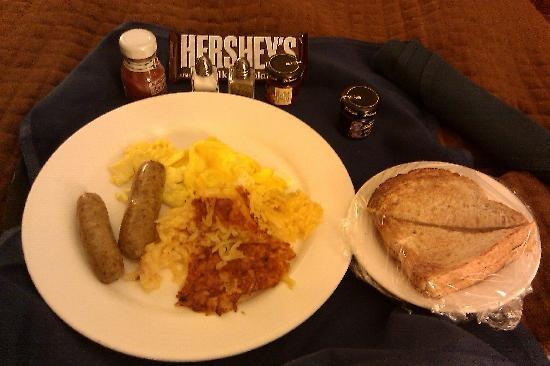 Hershey Lodge: Room service breakfast. Very good!