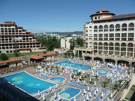 Swimming pools from balcony picture of iberostar sunny - Sunny beach pools ...