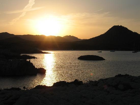 Parque Nereida: tramonto