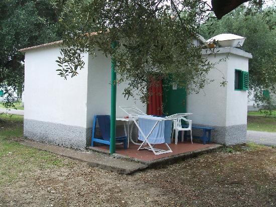 Ascea, Italie : bungalow distanziati tra loro, immersi nel verde, all'ombra degli ulivi