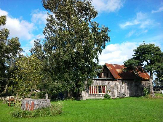 Slow Train Bed and Breakfast: The barn housing the Bergman Suite