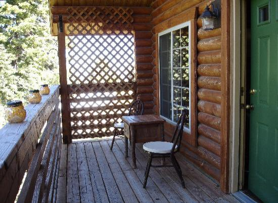 Mt. Charleston Lodge: Our back porch