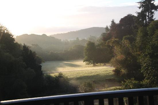 Chagford, UK : View from balcony in the morning
