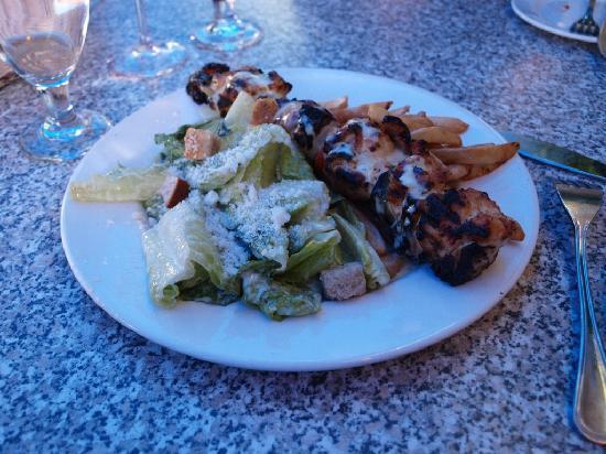 Vieux-Port Steakhouse : Burnt & Dry Grilled Chicken Brochette