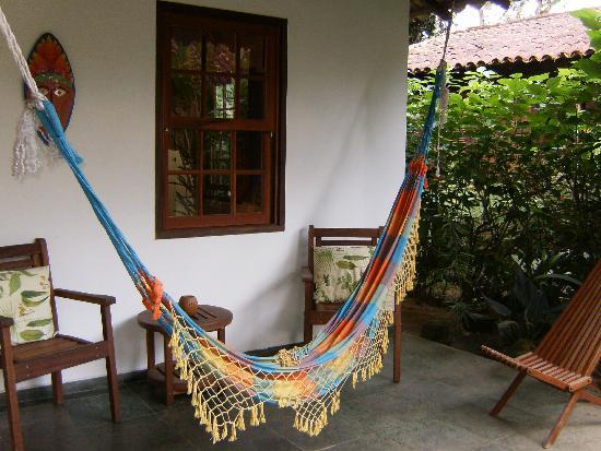 Eliconial: our bungalow's front porch hammock