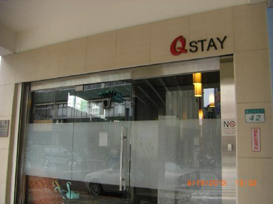 The entrance of QStay