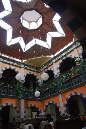Bernal, المكسيك: Domo sobre el patio del comedor