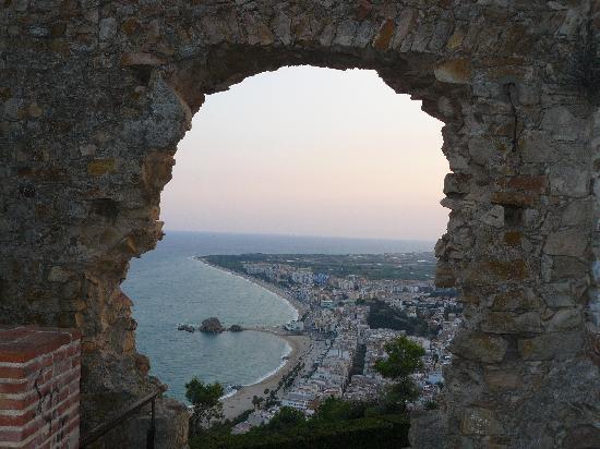 vista desde castillo todo Blanes