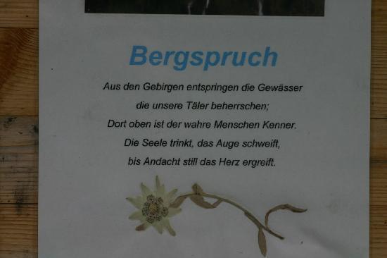 Hotel Vitaler Landauerhof: Bergspruch