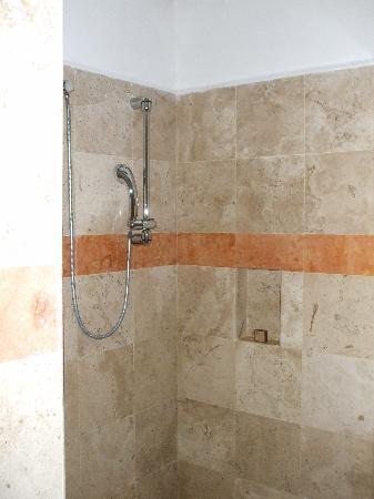 huge shower in infinity pool casita