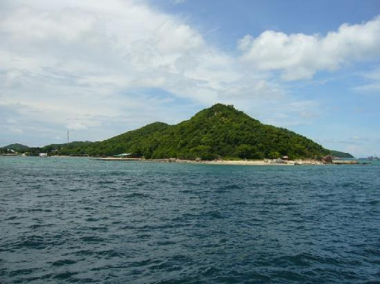 Ko Larn, Tailândia: Inselansicht vom Boot
