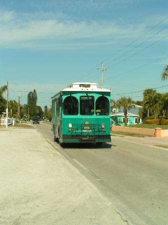 Anna Maria Island, FL: ein typischer bus auf anna maria