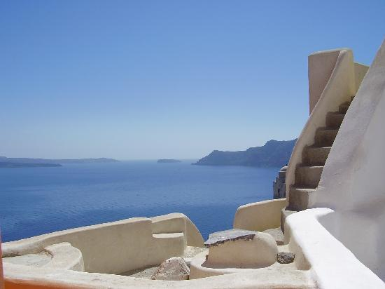 Santorini, Greece: Sea view from Island