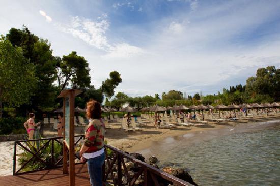 Kontokali Bay Resort and Spa: The hotel beach