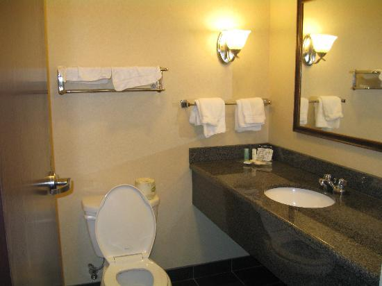 ‪كومفرت سويتس إنديانابوليس: Guest Suite Bathroom‬
