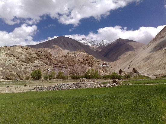 Ladakh, India: a village in the mountains