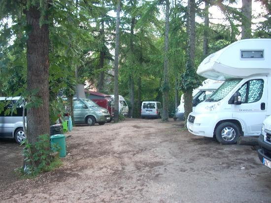 Camping Castel San Pietro: This small area packed in about 18 campers