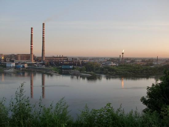 Kemerovo and the Tom river