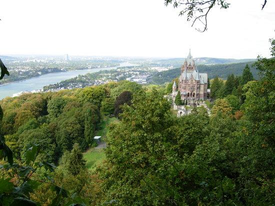 Königswinter, Tyskland: Blick vom Drachenfels Richtung Norden