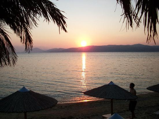 Koukounaries, Greece: sun setting