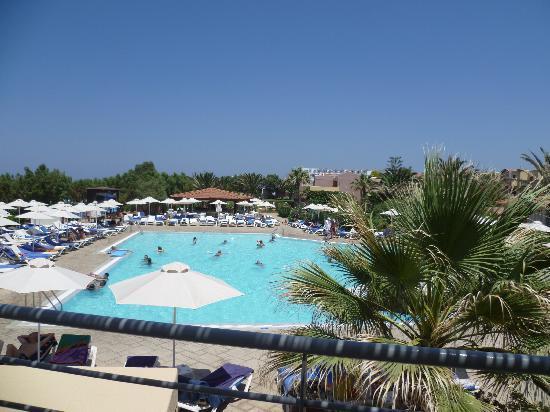 Zorbas Village : Vista piscina dalla terrazza del ristorante