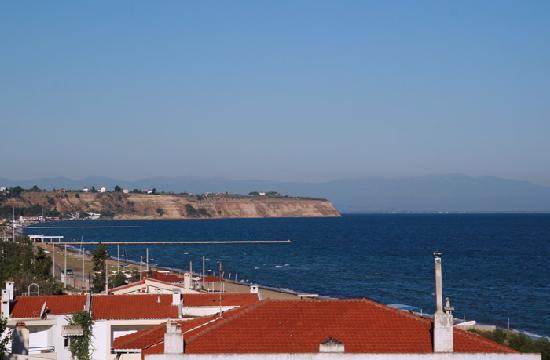 Agia Triada, Griechenland: West view from the hotel balcony