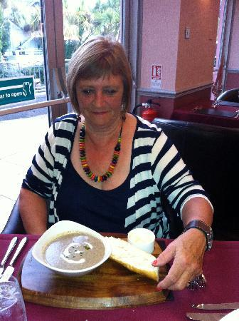 Hotel Kistor: Wild Mushroom soup (starter)