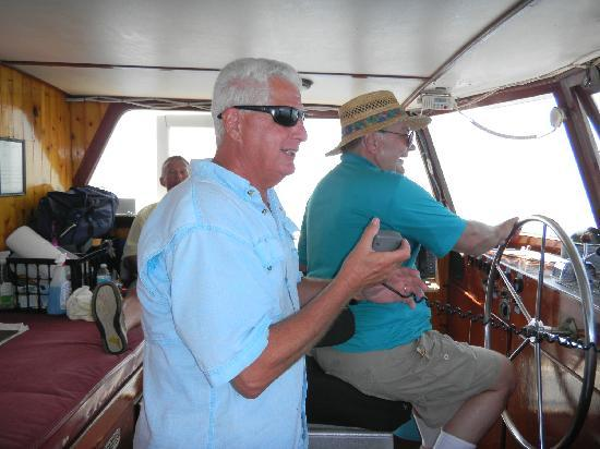 Fort Pierce Lady Deep Sea Fishing: My father driving the boat