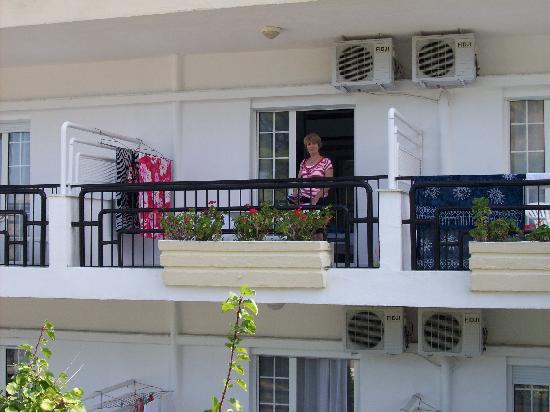 Hanioti Palace Hotel: our balcony room 207