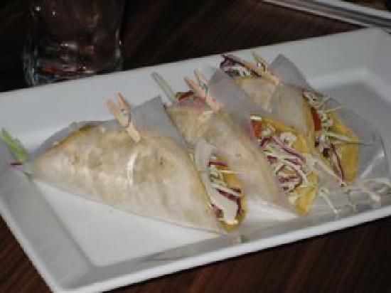 Fish tacos at Johnny Smalls