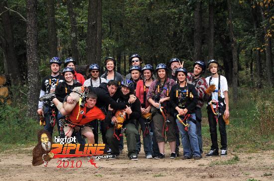 Bigfoot Zipline : Havin a blast at big foot