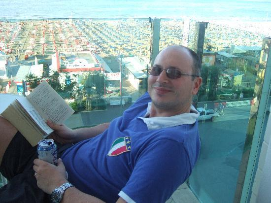 Hotel Regina: On the Balcony with A Beer