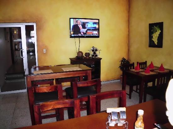 Casa Luna: restaurant. lobby is past the glass doors