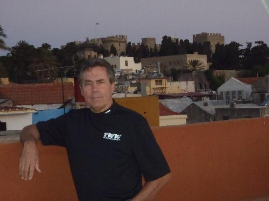 Domus Rodos Hotel: Predawn from the rooftop of Domus Rodos