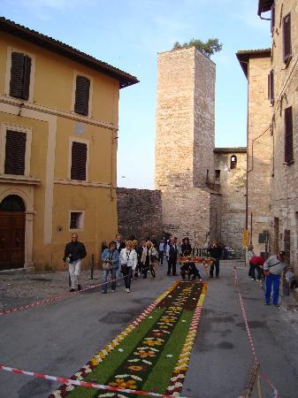Spello, Italië: Torre, Infiorata