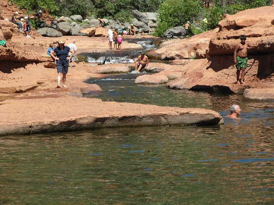 View of the Sliding area @ the Slide Rock State Park