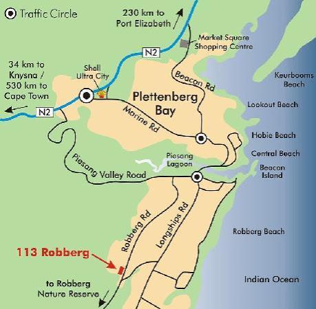113 Robberg B&B - Directions
