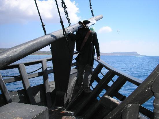 Ayia Napa, Cyprus: Pirate on Black Pearl Ship