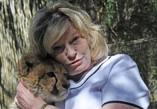 Cango Wildlife Ranch: Maggie with Cheetah Cub