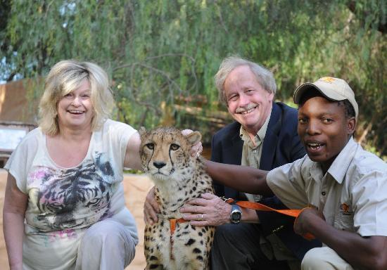 Cango Wildlife Ranch: Both of us with Jordan the cheetah