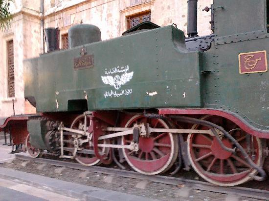 Old Locomotive in front of Hejaz Railway Station
