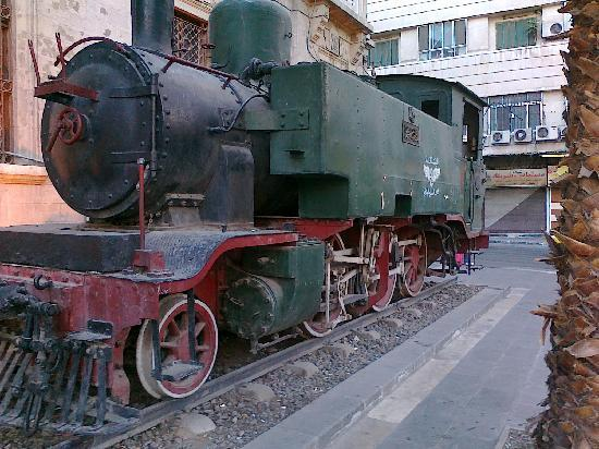 The same old Locomotive in front of Hejaz Railway Station