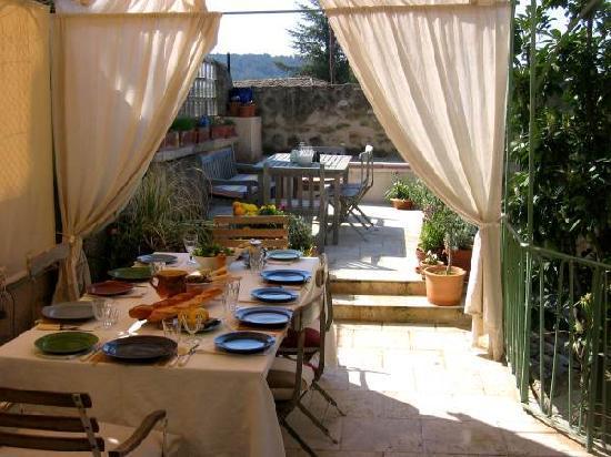 Lourmarin, Francia: Terrace